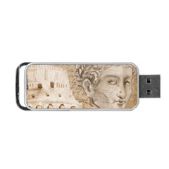 Colosseum Rome Caesar Background Portable Usb Flash (one Side) by Celenk