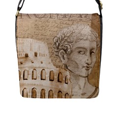 Colosseum Rome Caesar Background Flap Messenger Bag (l)  by Celenk