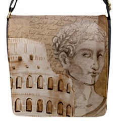 Colosseum Rome Caesar Background Flap Messenger Bag (s) by Celenk