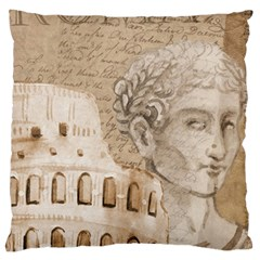 Colosseum Rome Caesar Background Standard Flano Cushion Case (two Sides) by Celenk