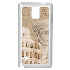 Colosseum Rome Caesar Background Samsung Galaxy Note 4 Case (white)