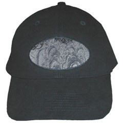 Abstract Art Decoration Design Black Cap by Celenk