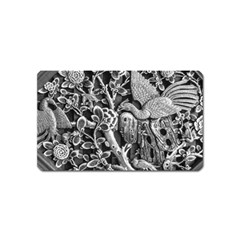 Black And White Pattern Texture Magnet (name Card) by Celenk