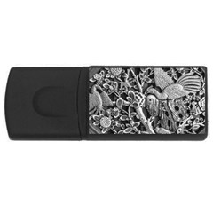 Black And White Pattern Texture Rectangular Usb Flash Drive by Celenk