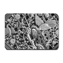 Black And White Pattern Texture Small Doormat  by Celenk