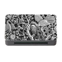 Black And White Pattern Texture Memory Card Reader With Cf by Celenk