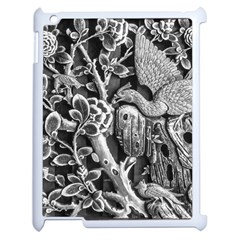 Black And White Pattern Texture Apple Ipad 2 Case (white) by Celenk