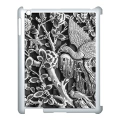 Black And White Pattern Texture Apple Ipad 3/4 Case (white) by Celenk