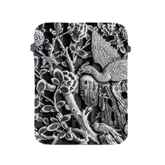 Black And White Pattern Texture Apple Ipad 2/3/4 Protective Soft Cases by Celenk