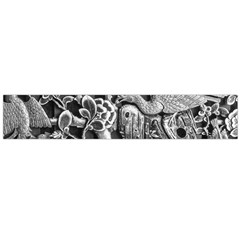 Black And White Pattern Texture Large Flano Scarf  by Celenk