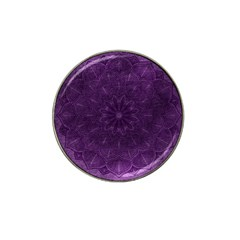 Background Purple Mandala Lilac Hat Clip Ball Marker (4 Pack) by Celenk