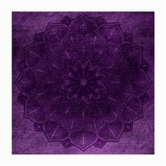Background Purple Mandala Lilac Medium Glasses Cloth by Celenk