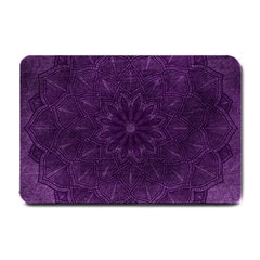Background Purple Mandala Lilac Small Doormat  by Celenk