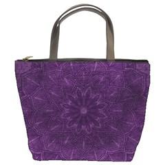 Background Purple Mandala Lilac Bucket Bags by Celenk