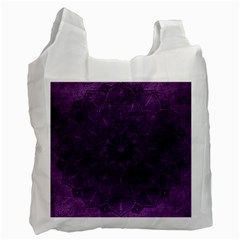 Background Purple Mandala Lilac Recycle Bag (one Side) by Celenk
