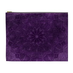 Background Purple Mandala Lilac Cosmetic Bag (xl) by Celenk