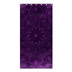 Background Purple Mandala Lilac Shower Curtain 36  X 72  (stall)  by Celenk