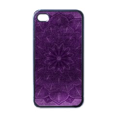 Background Purple Mandala Lilac Apple Iphone 4 Case (black) by Celenk