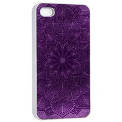 Background Purple Mandala Lilac Apple Iphone 4/4s Seamless Case (white) by Celenk
