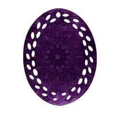 Background Purple Mandala Lilac Ornament (oval Filigree) by Celenk