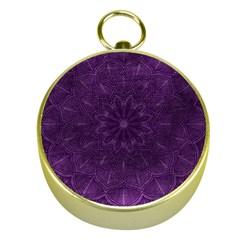 Background Purple Mandala Lilac Gold Compasses by Celenk