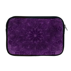 Background Purple Mandala Lilac Apple Macbook Pro 17  Zipper Case