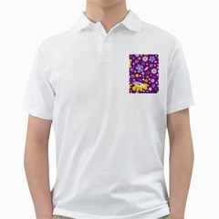 Floral Flowers Golf Shirts by Celenk