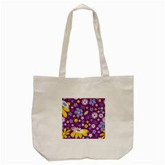 Floral Flowers Tote Bag (cream) by Celenk