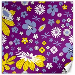 Floral Flowers Canvas 16  X 16   by Celenk