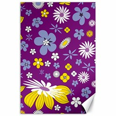 Floral Flowers Canvas 24  X 36  by Celenk