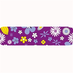 Floral Flowers Large Bar Mats by Celenk