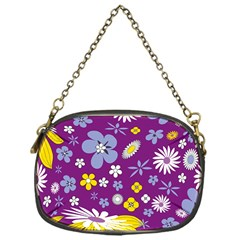 Floral Flowers Chain Purses (one Side)  by Celenk