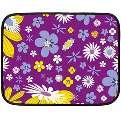 Floral Flowers Double Sided Fleece Blanket (mini)  by Celenk
