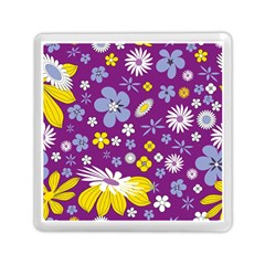 Floral Flowers Memory Card Reader (square)  by Celenk