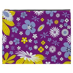 Floral Flowers Cosmetic Bag (xxxl)  by Celenk