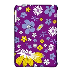 Floral Flowers Apple Ipad Mini Hardshell Case (compatible With Smart Cover) by Celenk