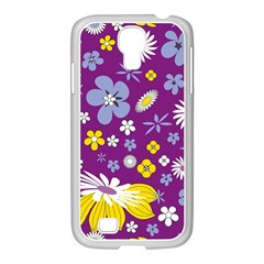 Floral Flowers Samsung Galaxy S4 I9500/ I9505 Case (white) by Celenk