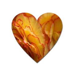 Flowers Leaves Leaf Floral Summer Heart Magnet by Celenk