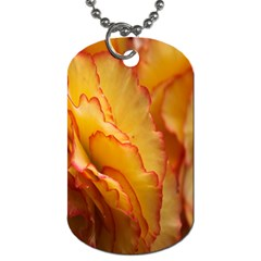 Flowers Leaves Leaf Floral Summer Dog Tag (one Side) by Celenk
