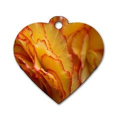 Flowers Leaves Leaf Floral Summer Dog Tag Heart (one Side) by Celenk