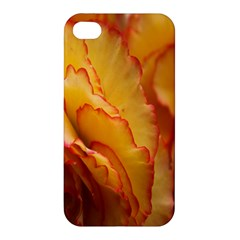 Flowers Leaves Leaf Floral Summer Apple Iphone 4/4s Premium Hardshell Case by Celenk
