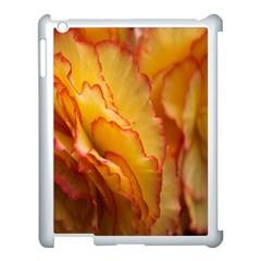 Flowers Leaves Leaf Floral Summer Apple Ipad 3/4 Case (white) by Celenk