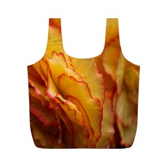Flowers Leaves Leaf Floral Summer Full Print Recycle Bags (m)  by Celenk