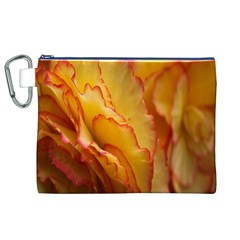 Flowers Leaves Leaf Floral Summer Canvas Cosmetic Bag (xl) by Celenk