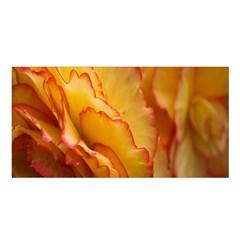 Flowers Leaves Leaf Floral Summer Satin Shawl by Celenk