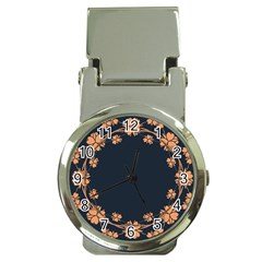 Floral Vintage Royal Frame Pattern Money Clip Watches by Celenk
