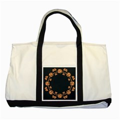 Floral Vintage Royal Frame Pattern Two Tone Tote Bag