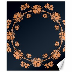 Floral Vintage Royal Frame Pattern Canvas 8  X 10  by Celenk