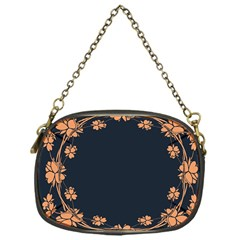 Floral Vintage Royal Frame Pattern Chain Purses (one Side)  by Celenk