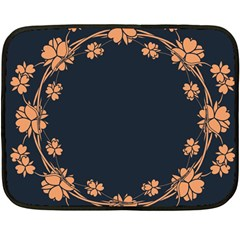 Floral Vintage Royal Frame Pattern Fleece Blanket (mini) by Celenk